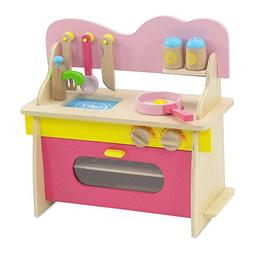 Emily Rose Wooden Kitchen Stove With Accessories - 18 Inch -