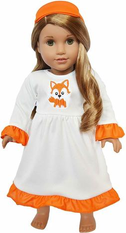 Woodland Fox Doll Nightgown Outfit Fits 18 Inch American Gir