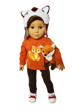 Woodland Fox Outfit Fits American 18 Inch Boy Dolls- Doll Cl