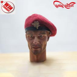 WWII 1/6 Scale Clothes Accessory Red Beret Hat Cap Model For