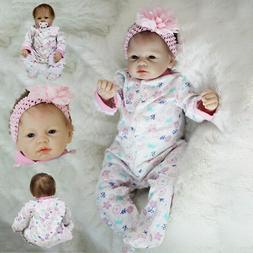 XMAS GIFT Reborn Girl Doll Cute Baby Dolls Toddler Toy Silic