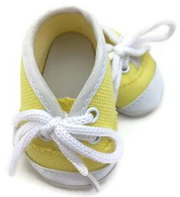 """Yellow Canvas Tennis Shoes Sneakers made for 18"""" American Gi"""