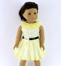 """White Straw Bag Purse with Daisy made for 18/"""" American Girl Doll Clothes"""