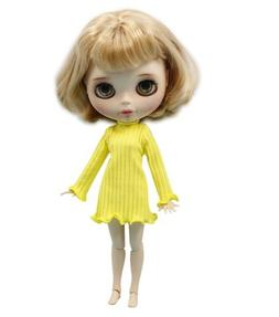Studio one Yellow Winter Dress Cloth For Blythe Doll Azone L