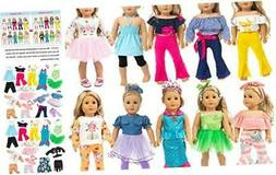 ZITA ELEMENT 10 Complete Sets 18 Inch Doll Clothes Dress and